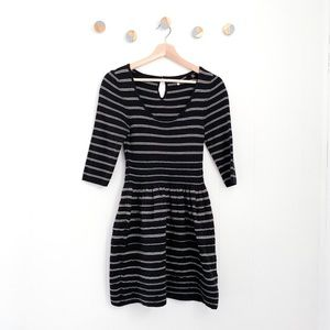 Knitted & Knotted Fit & Flare Sweater Dress Anthro